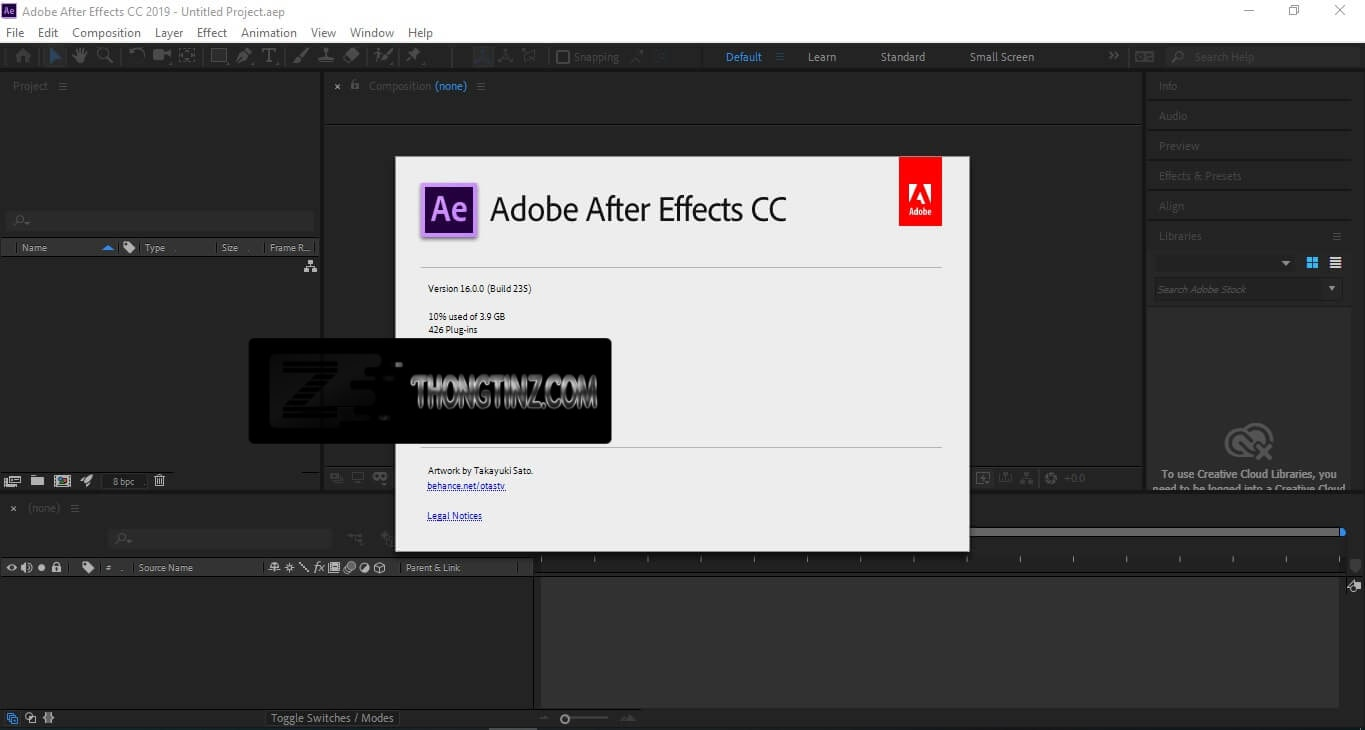kiểm tra after effects cc 2019 đã crack chưa